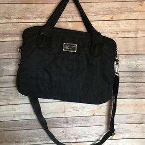 Marc Jacobs   black quilted laptop computer bag